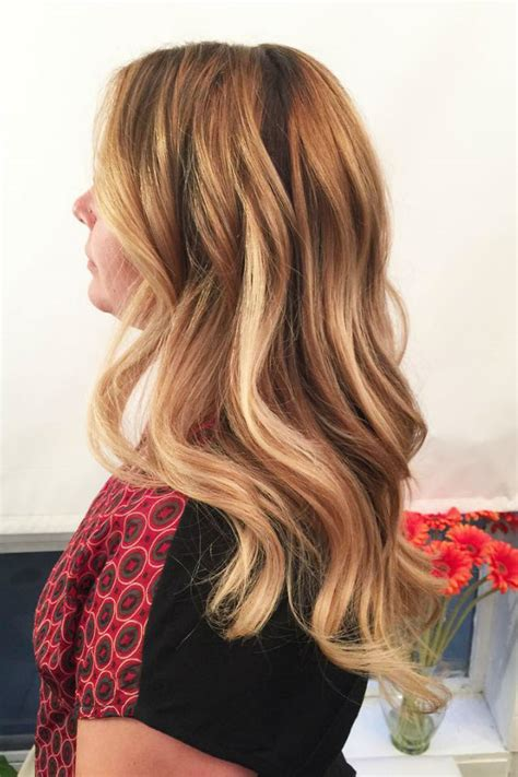 blonde balayage hair color ideas  caramel honey