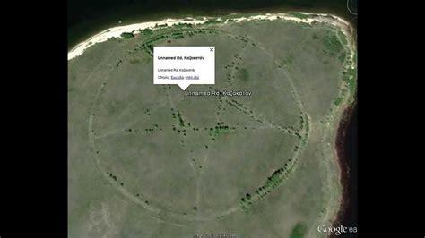 huge pentagram   google earth  kazakhstan