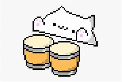 Pixel Bongo Cat Maker Grid Minecraft Transparent