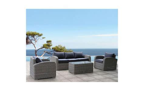 Salon de jardin au design italien 5 places ru00e9sine tressu00e9e grise