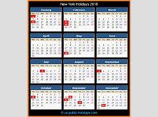 New York Holidays 2018