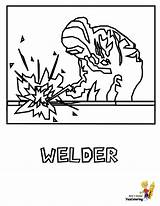 Coloring Construction Pages Printable Welder Tools Worker Sheet Yescoloring Tool Gritty Boys Getcoloringpages Equipment sketch template