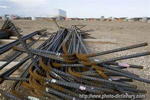 steel rebar photo picture definition at photo dictionary With rebar letters