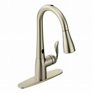 moen 7594esrs arbor with motionsense one handle high arc With faucet for kitchen sink