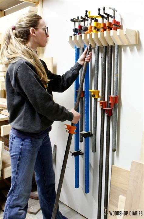 One sheet of plywood makes an easy woodworking project in the form of a pretty handy rolling clamp cart in a small footprint.read more, with links to the. DIY Pipe Clamp Rack --Easy Clamp Rack Using Scrap Wood!