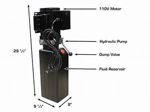 Electric  Hydraulic 110v Single Phase 60hz 1 5hp Power Unit