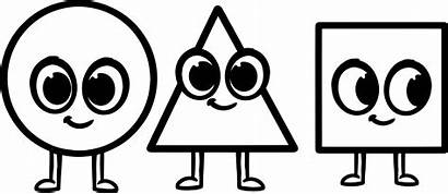 Shapes Coloring Circle Triangle Pages Cartoon Morphle