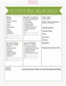 6 best images of printable bridal shower checklist With wedding shower checklist