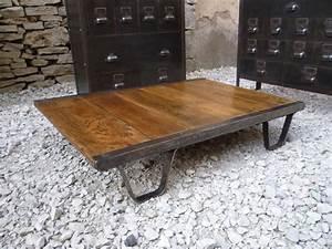 Roue Table Basse : tables basses mettetal industry design industriel du ~ Teatrodelosmanantiales.com Idées de Décoration