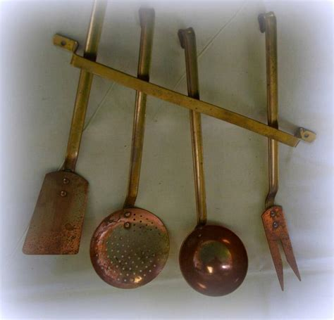 french copper utensil set chef cook cuisine top quality ebay