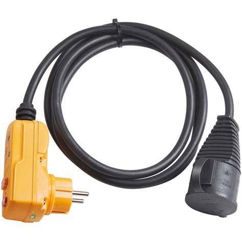 le mit stecker brennenstuhl schutzadapterleitung mit fi stecker ip 44 und