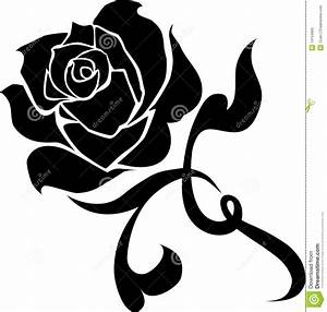 14 Black Rose Vector Images - Vector Clip Art Black and