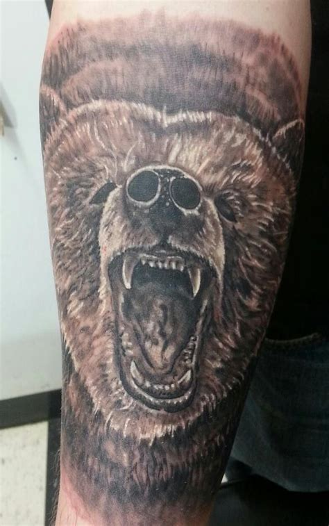 grizzly bear tattoo black  grey bear tattoo meaning