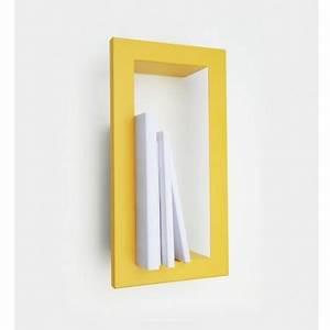 Etagere Murale Jaune : etag re murale cadre jaune moutarde presse citron highstick ~ Teatrodelosmanantiales.com Idées de Décoration