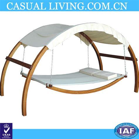 chaise hamac avec support usine de bonne qualité bois extérieur balançoire hamac