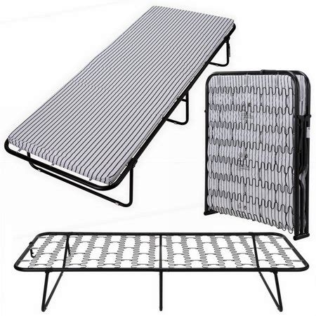 folding mattress walmart homegear portable heavy duty steel frame folding