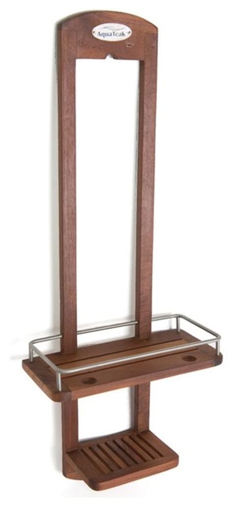 best teak bath caddy teak shower caddy from the spa collection contemporary