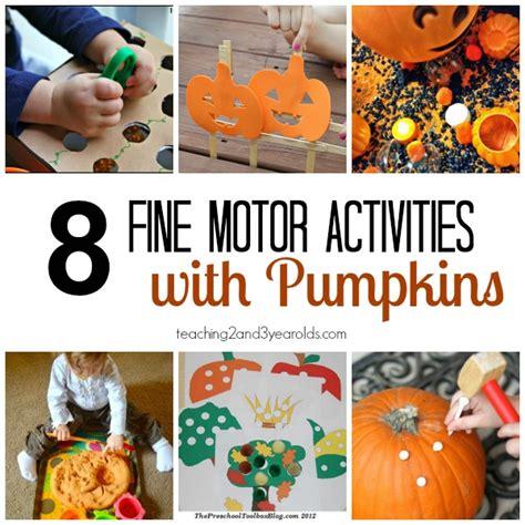 fall motor activities for preschoolers 963 | fine motor activities with pumpkins