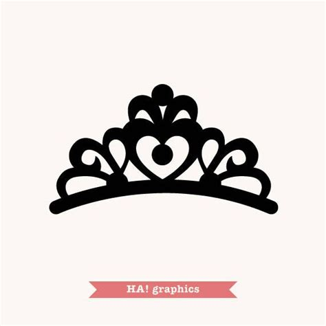 crown tiara princess queen king prince silhouette