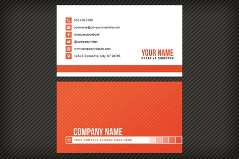 Cards Templates by Simple Striped Business Card Template Design Panoply