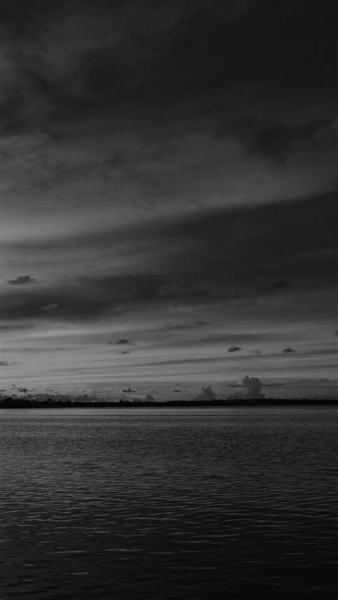 nc sea port night sunset summer dark bw wallpaper