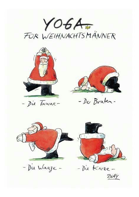 yoga fuer weihnachtsmaenner weihnachtssprueche weihnachten