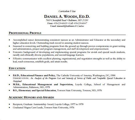 sample academic resume templates   ms word