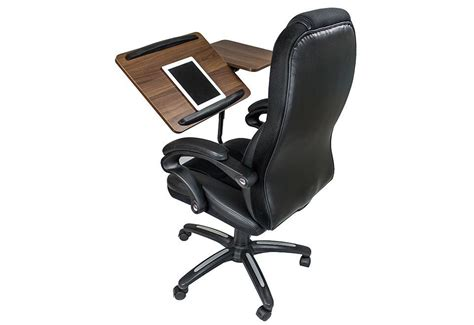this office chair has an integrated tablet desk