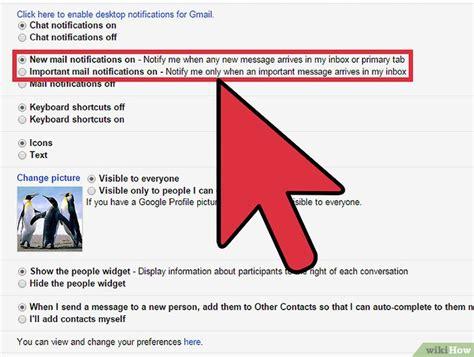gmail bureau comment activer les notifications de bureau de gmail