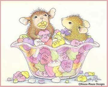 happy valentines day mice clip art colored  house