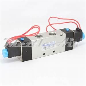 5 Ports 4 Way 2 Position Valve 1  2 U0026quot  Npt Wire Leads Double
