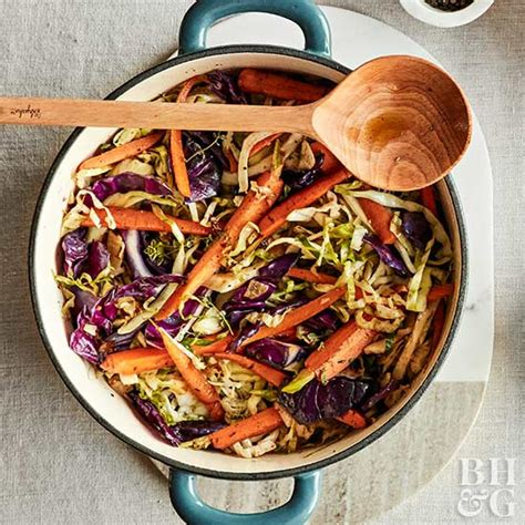 braised cabbage  carrots
