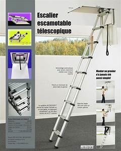 Escalier Escamotable Grenier : prix chelle t lescopique de grenier marches plates et ~ Melissatoandfro.com Idées de Décoration