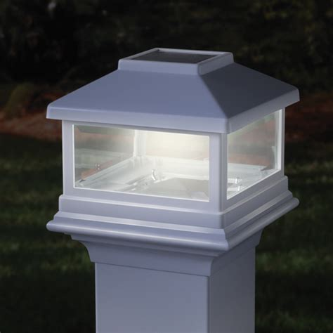 solar deck cap lights deckorators solar post cap light