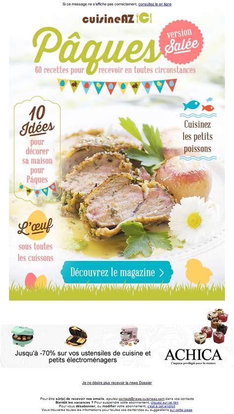 cuisinez az galerie de newsletters de la marque the mailing book