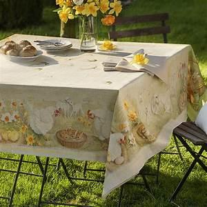 Nappe Pour Table : nappe magnifique linge de table pour p ques hagen grote gmbh ~ Teatrodelosmanantiales.com Idées de Décoration