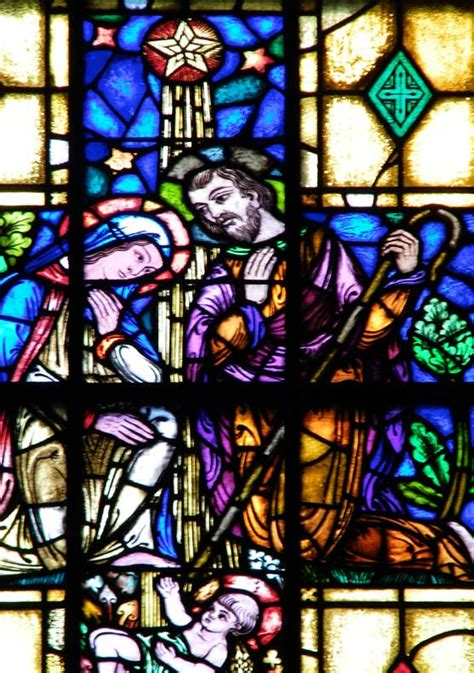 how to stained glass window st evangelist rc church