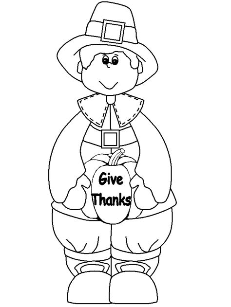 thanksgiving day coloring pages  childrens printable