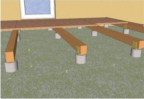 poser une terrasse en bois sur dalle beton pose d une terrasse en bois sur plots en b 233 ton amenagements ext 233 rieurs tiny