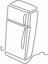 Refrigerator Clipart Coloring Kitchen Graphic Freezer Transparent Pixabay Vector Webstockreview Pluspng Svg sketch template