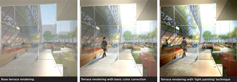 lighting architectural renderings  photoshop images