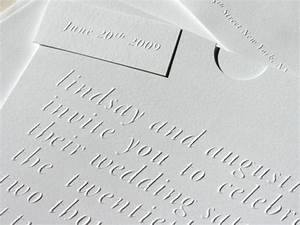 simple blind emboss wedding invitations With embossed text wedding invitations