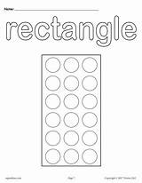 Rectangle sketch template