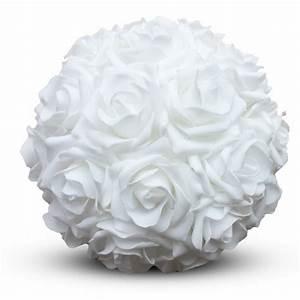 Boule De Rose : boule rose blanche 18cm florimat ~ Teatrodelosmanantiales.com Idées de Décoration