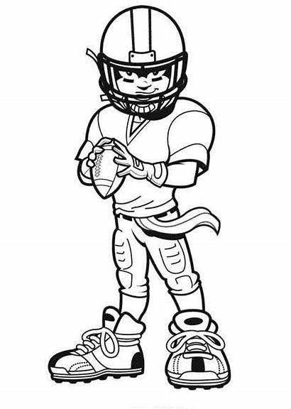 Football Nfl Player Drawings Coloring Pages Players