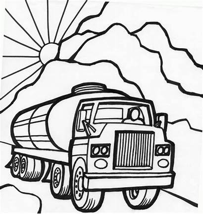 Coloring Pages Trucks Truck Cars Printable Tanker