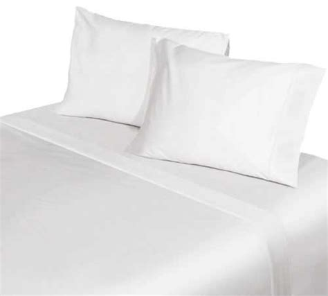 hotel fitted sheets 50 50 polyester cotton percale white