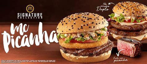 McDonald's - Brasil   Hamburguer de picanha, Mcdonald's, Hambúrguer