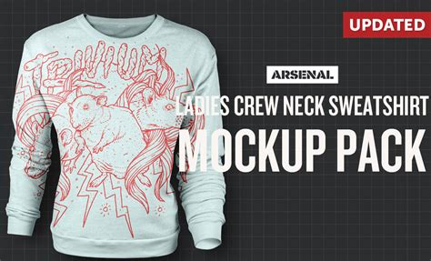 crew neck mock up template ladies crew neck sweatshirt mockup template pack