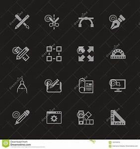 Blueprint, -, Flat, Vector, Icons, Stock, Vector